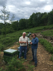 David, Galician beekeeper with Tim