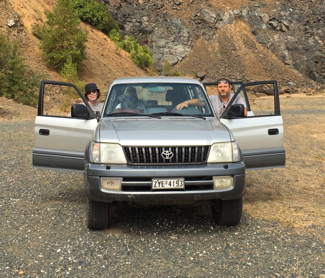 In the 4 x 4 and about to head up the mountain