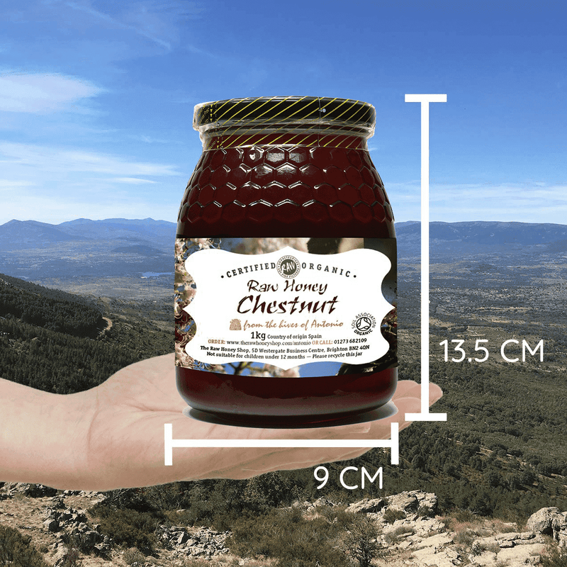 Pure and Natural Raw Organic Chestnut Honey - 1kg - The Raw Honey Shop