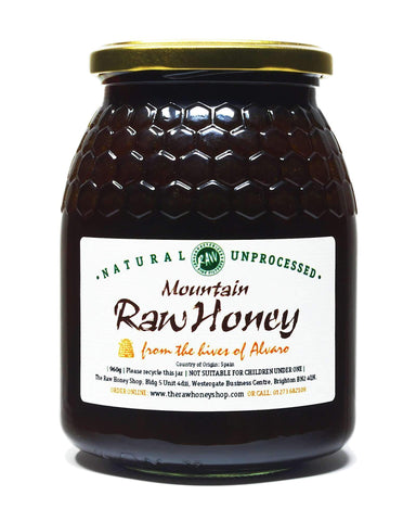Pure and Natural Raw Mountain Honey - 960g - The Raw Honey Shop
