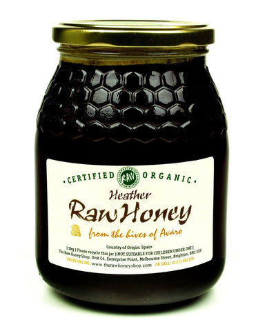 Pure and Natural Raw Organic Heather Honey -1kg - The Raw Honey Shop
