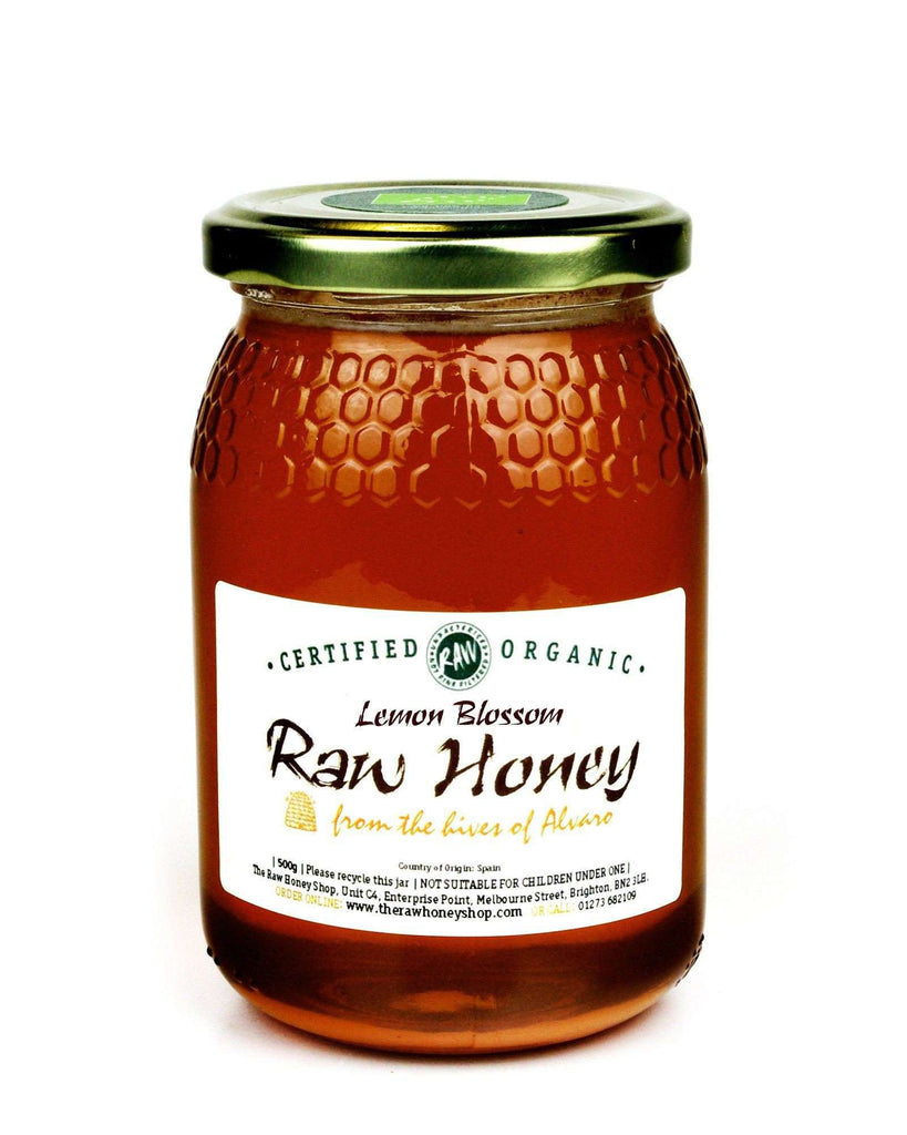 Pure and Natural Raw Lemon Blossom Honey - 500g - The Raw Honey Shop