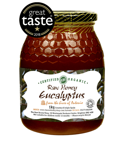 Raw Organic Eucalyptus Honey - 1kg