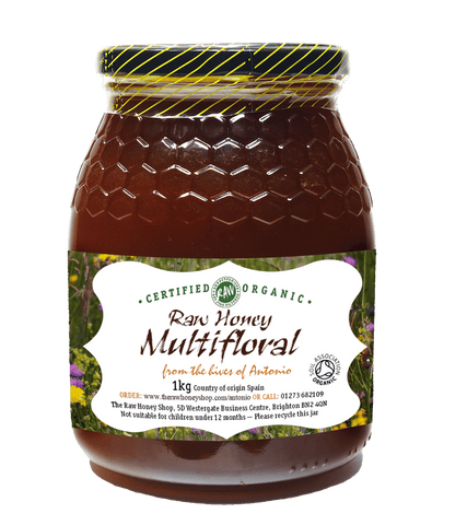 Pure and Natural Raw Organic Multifloral Honey - 1kg - The Raw Honey Shop