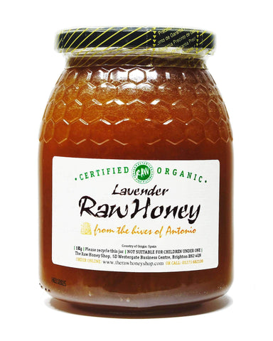 Pure and Natural Raw Organic Lavender Honey - 1kg - The Raw Honey Shop