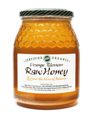 Pure and Natural Raw Organic Orange Blossom Honey - 1kg - The Raw Honey Shop