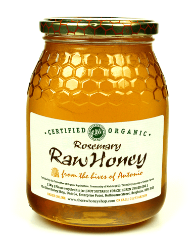 Pure and Natural Raw Organic Rosemary Honey - 1kg - The Raw Honey Shop