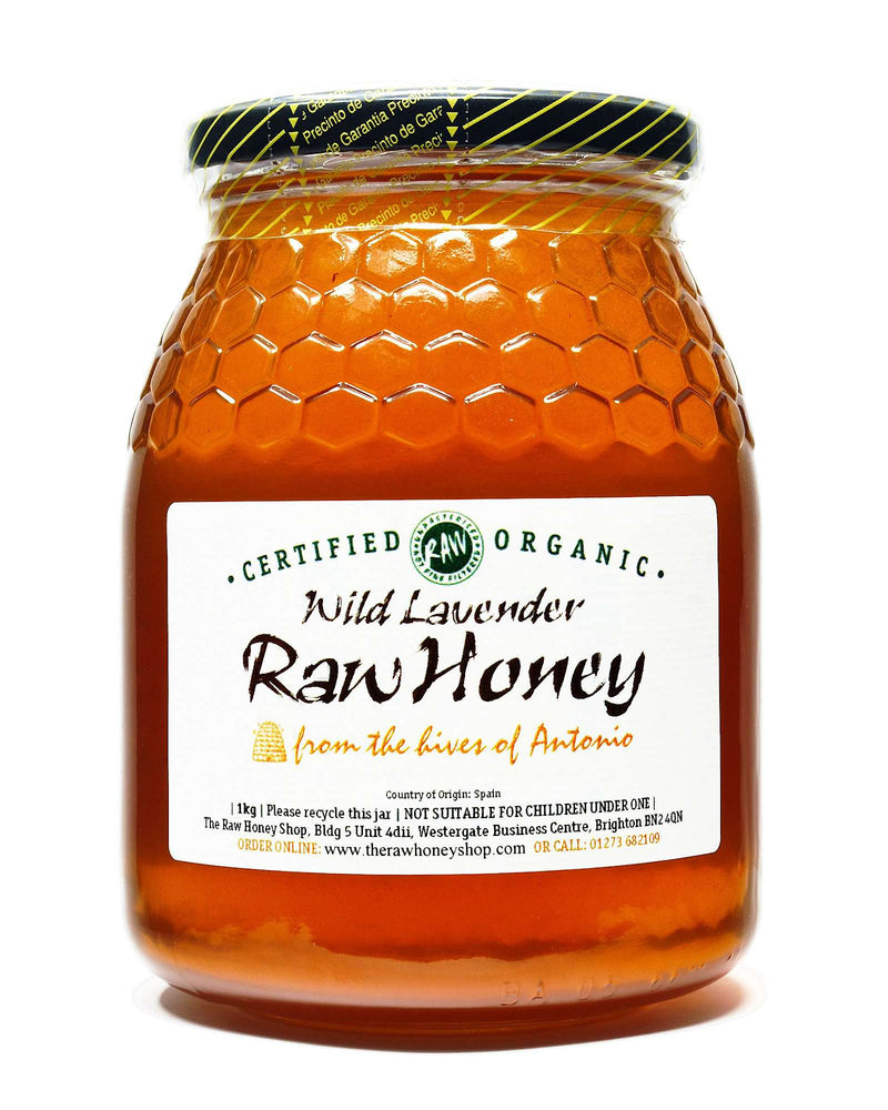 Pure and Natural Raw Organic Wild Lavender Honey - 1kg - The Raw Honey Shop