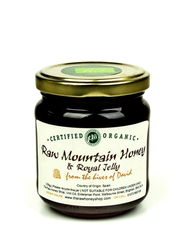 Pure and Natural Raw Organic Mountain Honey and Royal Jelly - 270g - The Raw Honey Shop