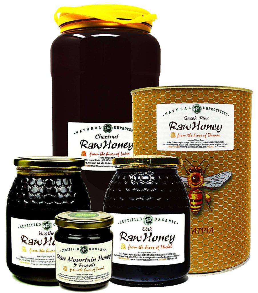 Pure and Natural Family Size Raw Antibacterial Honey Bundle - 20kg - The Raw Honey Shop