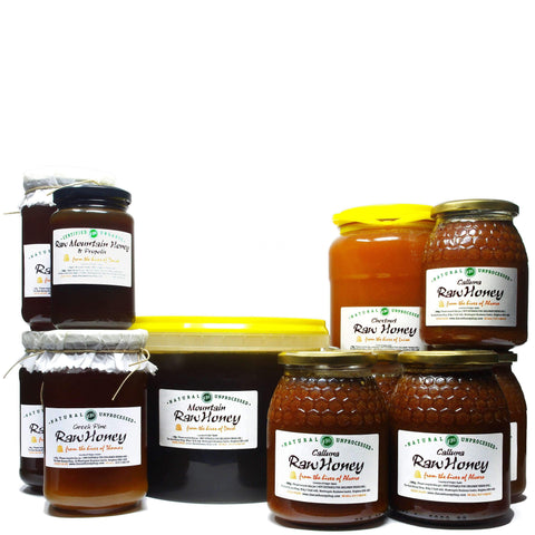 Pure and Natural Family-Sized Winter Healthy Honey Bundle - 20kg - The Raw Honey Shop