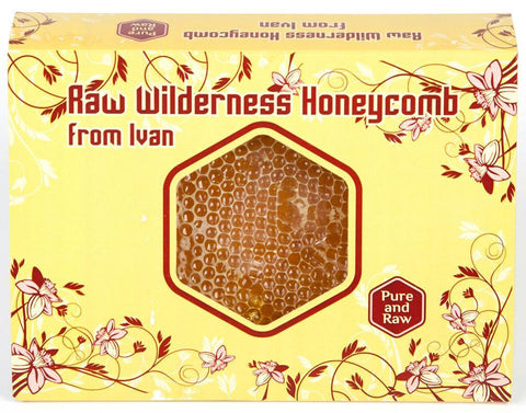 Pure and Natural Gift Box of Raw Wilderness Honeycomb - 400g - FREE DELIVERY - The Raw Honey Shop