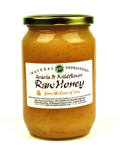 Pure and Natural Raw Acacia & Wildflower Honey - 960g - The Raw Honey Shop