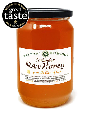 Pure and Natural Raw Coriander Honey - 960g - The Raw Honey Shop