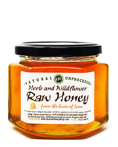 Pure and Natural Raw Herb & Wildflower Honey - 450g - The Raw Honey Shop