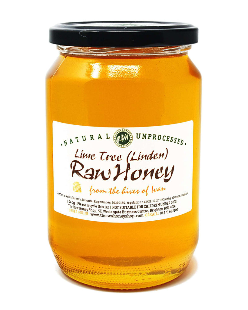 Pure and Natural Raw Lime (Linden) Tree Honey - 940g - The Raw Honey Shop