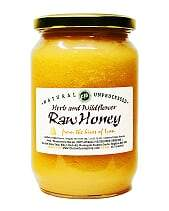 Pure and Natural Raw Herb & Wildflower Honey - 500g - The Raw Honey Shop