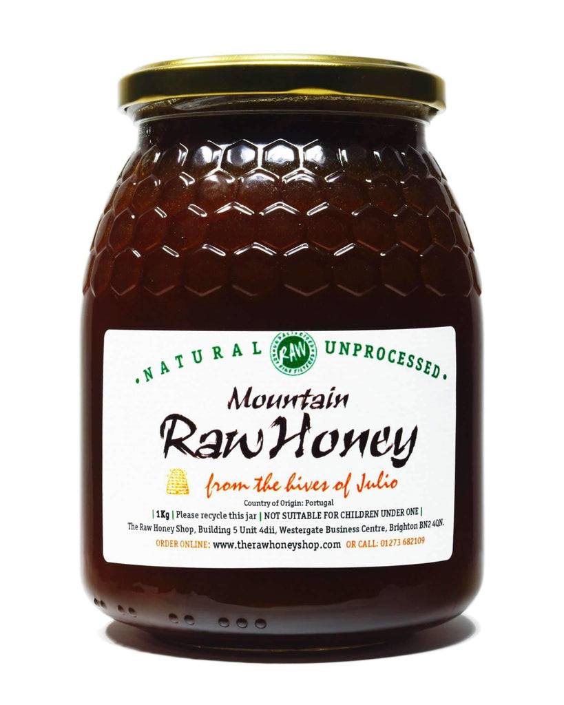 Pure and Natural Raw Mountain Honey - 1kg - The Raw Honey Shop