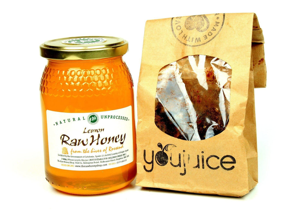 Pure and Natural Raw Lemon Blossom Honey & Raw Chocolates with Coconut and Raw Organic Lemon Blossom Honey - The Raw Honey Shop