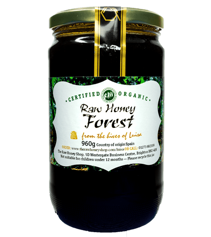 Raw Organic Forest Honey - 960g - Cold-Pressed, Unpasteurised, Coarse-Filtered, Certified