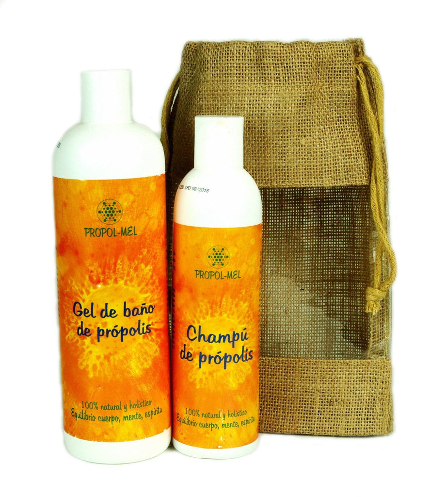 Pure and Natural Naturally Clean Gift Set - Organic Propolis Bath Gel & Organic Propolis Shampoo - The Raw Honey Shop