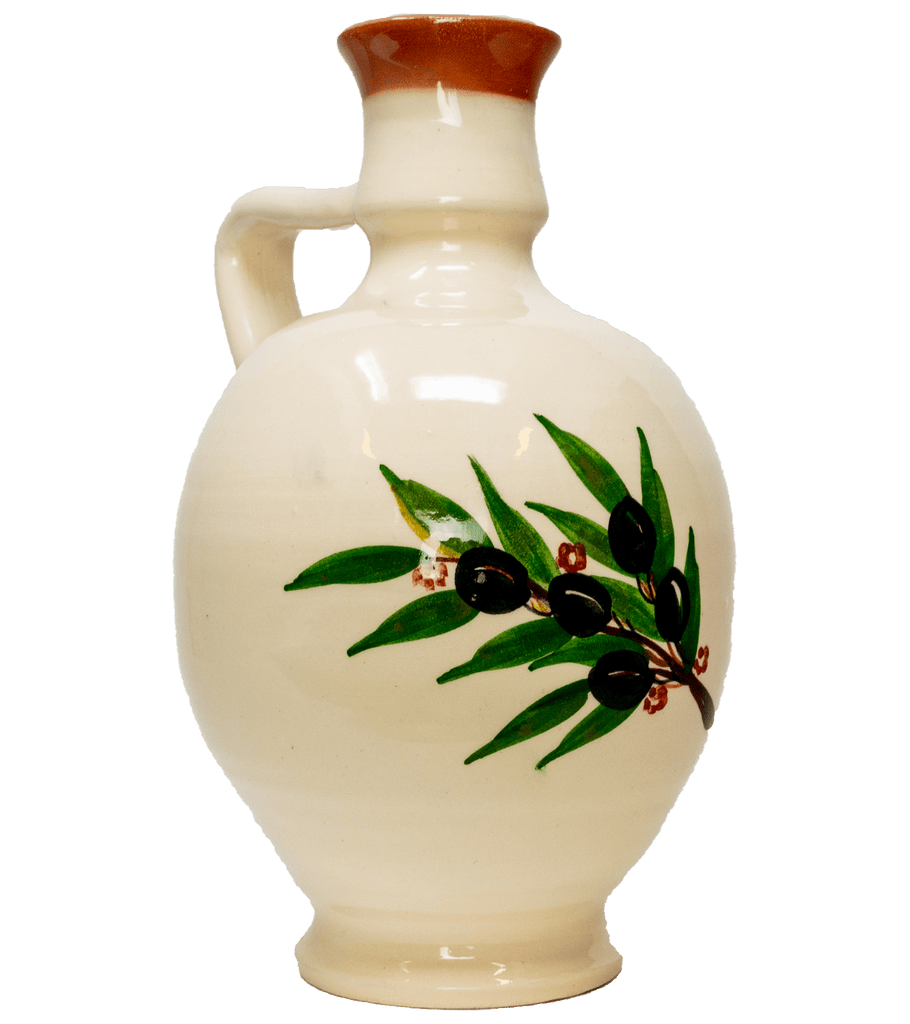 Premium Spyros' Artisan Extra Virgin Olive Oil in Traditional Terracotta Flagon - 500ml