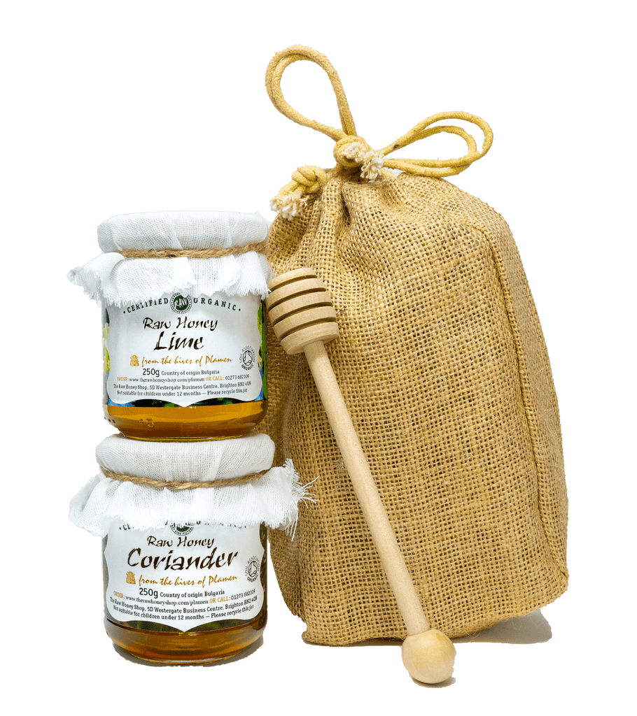 Raw Organic Artisan Honey Gift Bag - 2x250g