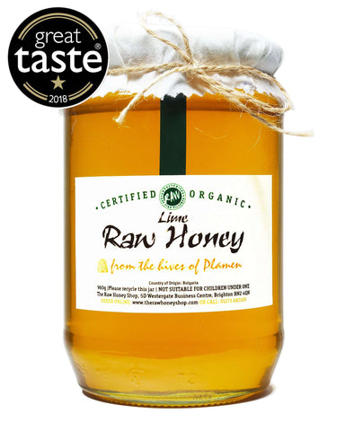Pure and Natural Raw Organic Lime Honey - 960g - The Raw Honey Shop