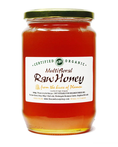 Pure and Natural Raw Organic Multifloral Honey - 960g - The Raw Honey Shop