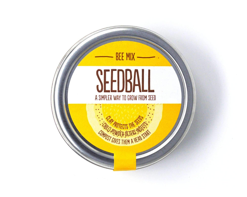 Pure and Natural Bee Mix Wildflower SeedBall Tin - The Raw Honey Shop