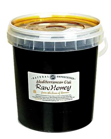 Pure and Natural Raw Mediterranean Oak Honey - 4kg - The Raw Honey Shop