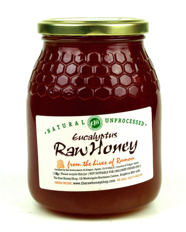Pure and Natural Raw Eucalyptus Honey - 1kg - The Raw Honey Shop