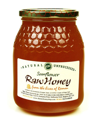 Pure and Natural Raw Sunflower Honey - 1kg - The Raw Honey Shop