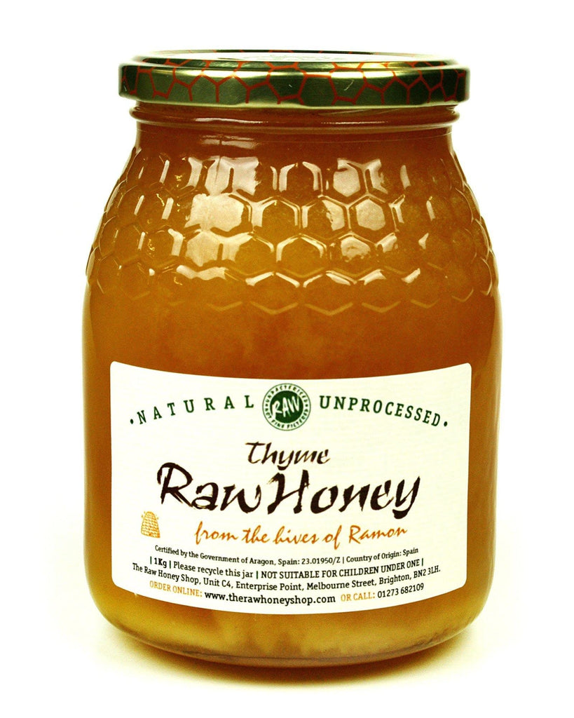 Pure and Natural Raw Thyme Honey - 1kg - The Raw Honey Shop