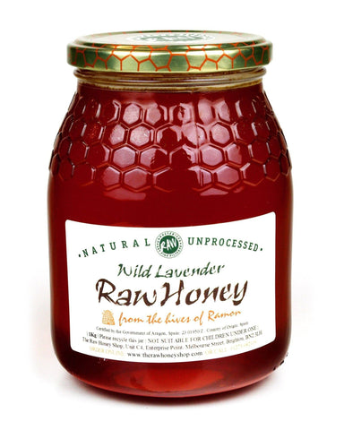 Pure and Natural Raw Wild Lavender Honey - 1kg - The Raw Honey Shop