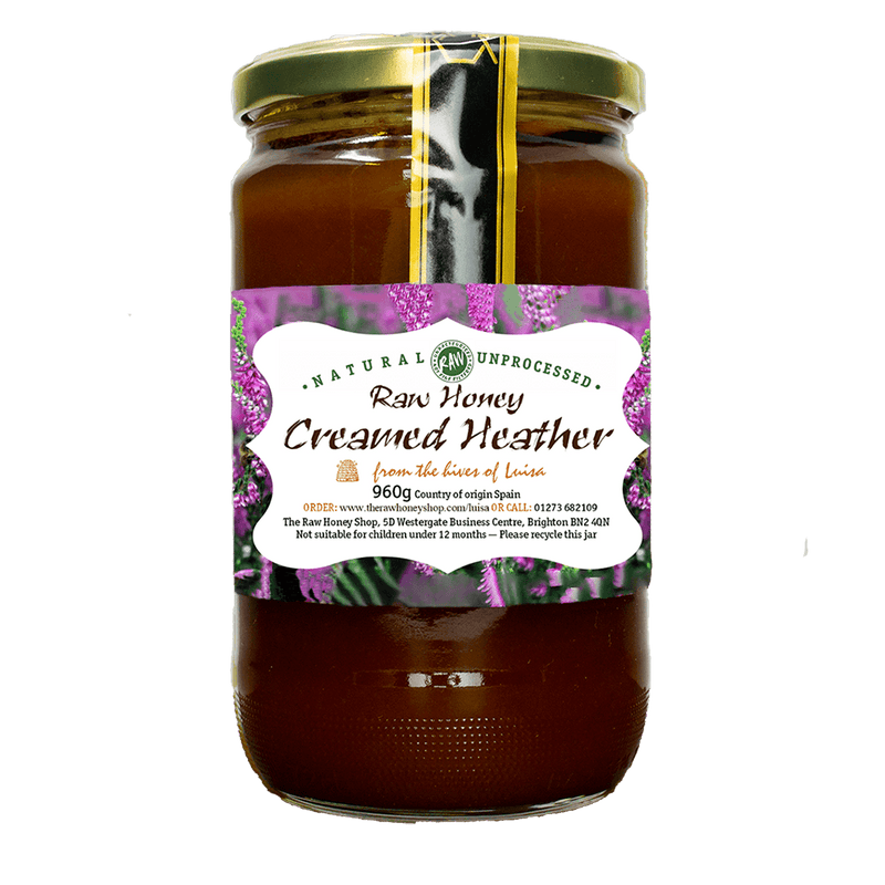 Raw Creamed Heather Honey - 960g - Coarse-filtered, Unpasteurised, and Enzyme-rich