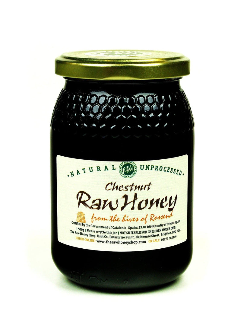 Pure and Natural Raw Chestnut Honey - 500g - The Raw Honey Shop