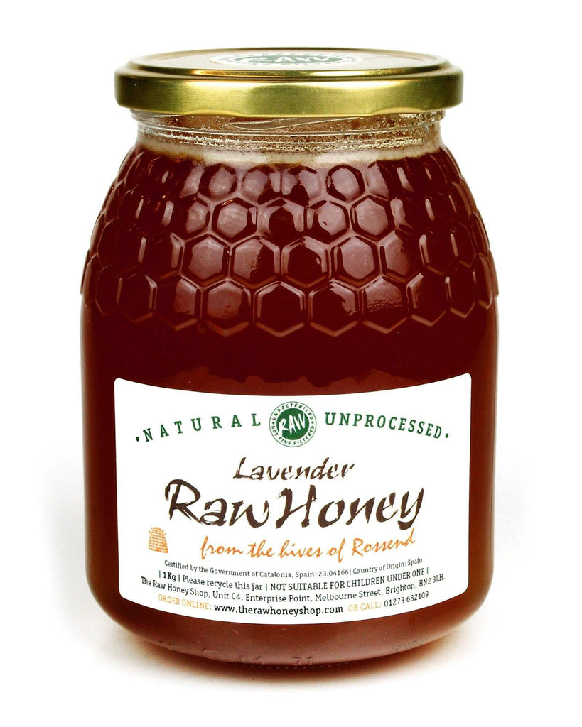 Pure and Natural Raw Lavender Honey - 1kg - The Raw Honey Shop