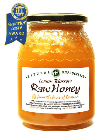 Pure and Natural Raw Lemon Blossom Honey - 1kg - The Raw Honey Shop