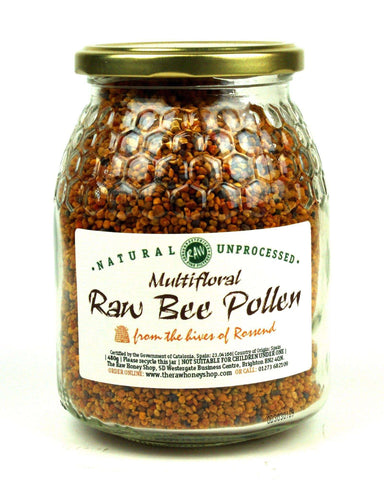 Pure and Natural Raw Dried Multifloral Bee Pollen - 480g - The Raw Honey Shop