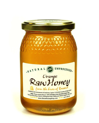 Pure and Natural Raw Orange Blossom Honey - 500g - The Raw Honey Shop