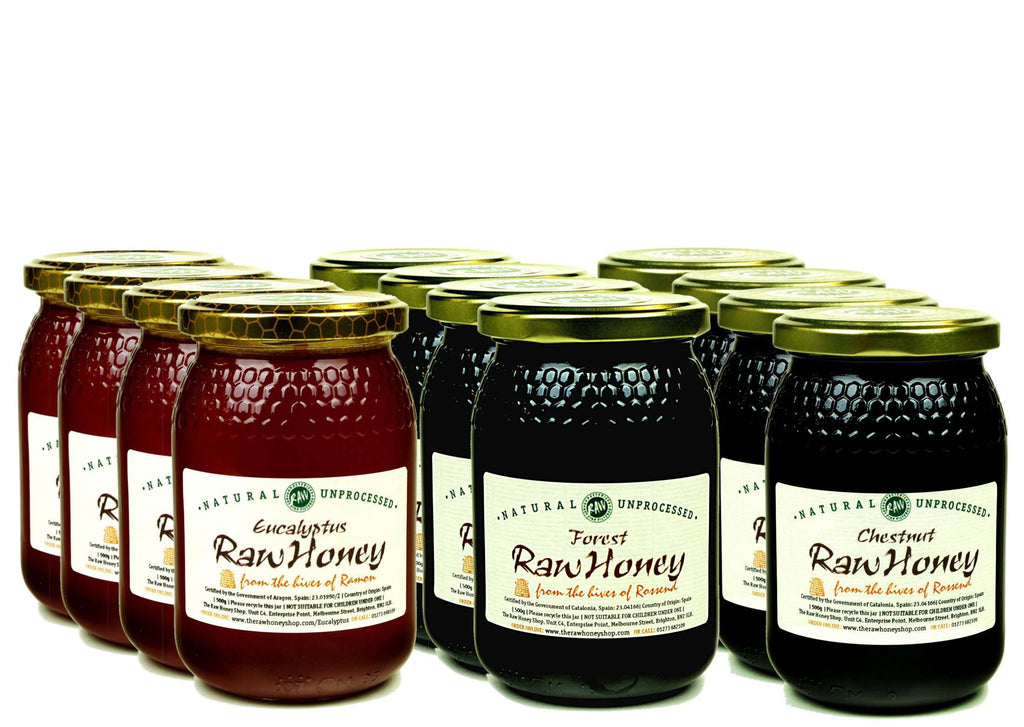 Seasonal Raw Honey Gift Bundle - 12 x 500g