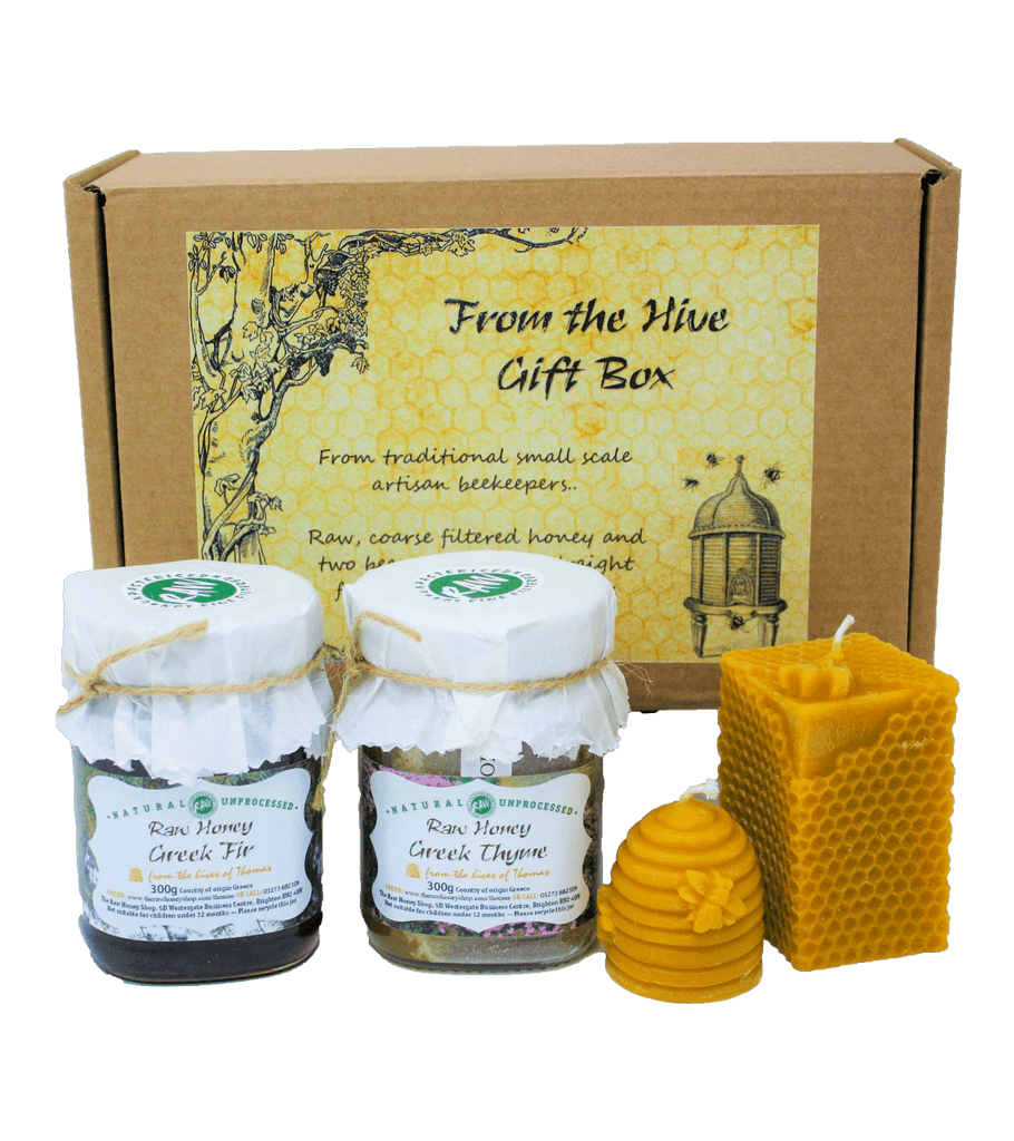 From The Hive Gift Box - Thyme & Fir - 300g + 2 candles