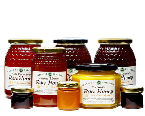 Spring Raw Honey Bundle - Spring Mountain, Wild Rosemary, Thyme, Coriander, Orange Blossom