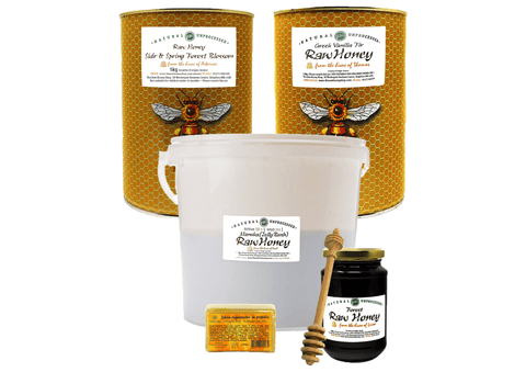 Super Raw Antibacterial Honey Bundle: Greek Sidr & Spring Blossom (5kg), Greek Vanilla Fir (5kg), Manuka (7kg)
