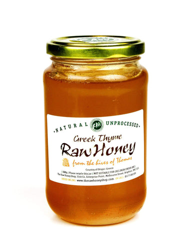 Pure and Natural Artisan Raw Greek Thyme Honey - 490g - The Raw Honey Shop