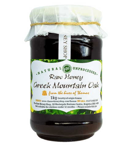 Pure and Natural Artisan Raw Greek Mountain Oak Honey - 1kg - The Raw Honey Shop