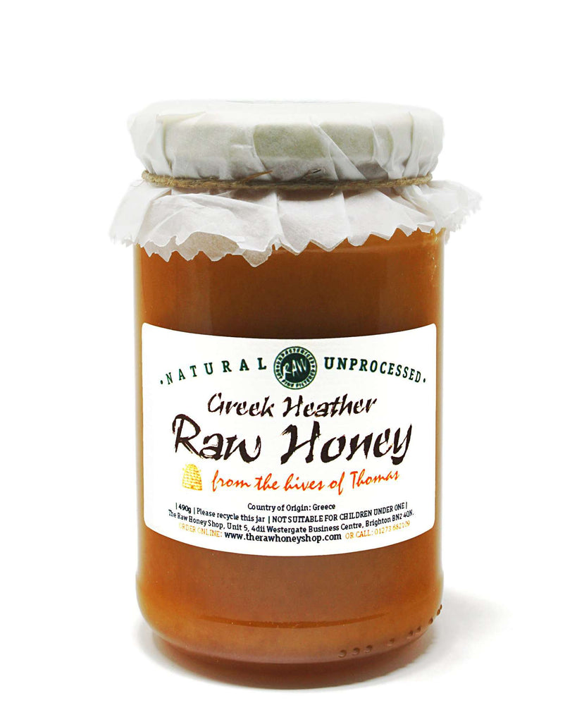 Pure and Natural Artisan Raw Greek Heather Honey - 490g - The Raw Honey Shop