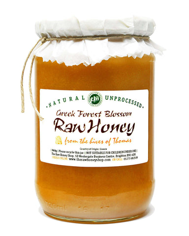 Pure and Natural Artisan Raw Greek Forest Blossom Honey - 960g - The Raw Honey Shop