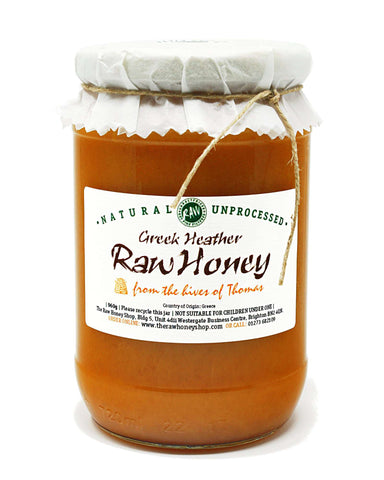 Pure and Natural Artisan Raw Greek Heather Honey - 960g - The Raw Honey Shop